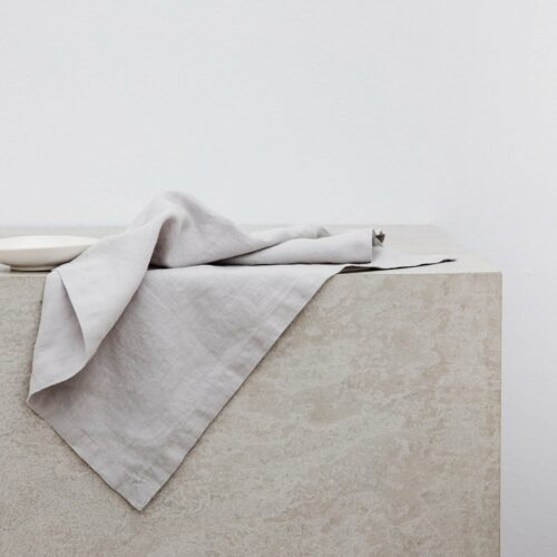 Linen Table Napkins - Smoke Gray