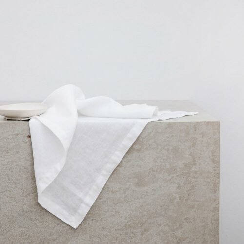 Linen Table Napkins - White