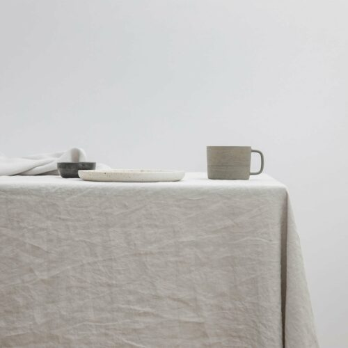 Linen Tablecloth - Smoke Gray