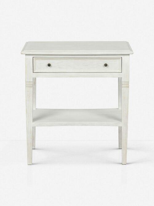 Luna 1 Drawer Nightstand, White Wash