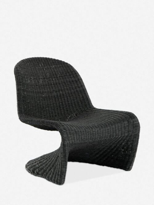 Manila Indoor / Outdoor Accent Chair, Vintage Coal