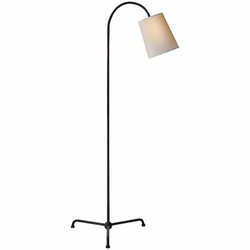 Mia Floor Lamp by Visual Comfort - Color: Black - Finish: Iron - (TOB 1021AI-NP)