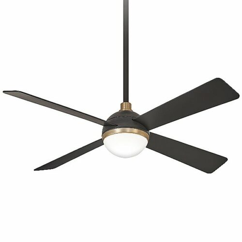 Minka Aire Orb Ceiling Fan - Color: Brass - F623L-BC/SBR