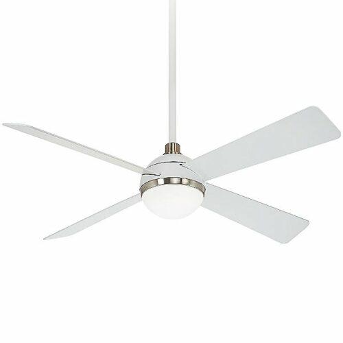 Minka Aire Orb Ceiling Fan - Color: White - F623L-WHF/BN
