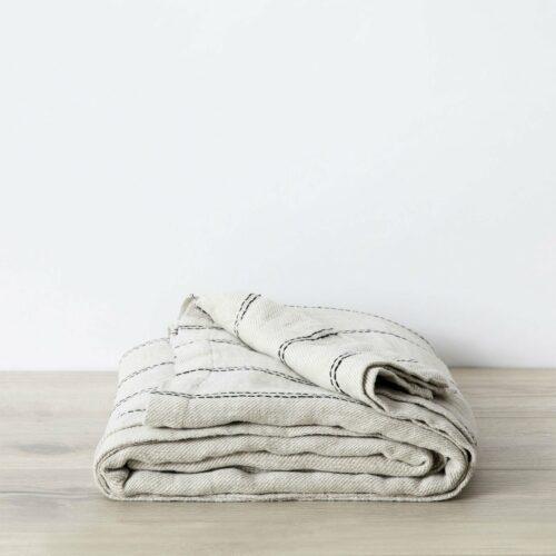Mira Linen Bedcover - Ana