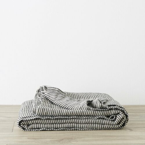 Mira Linen Bedcover - Ellis Stripe