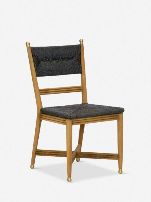 Morris & Co. Kelmscott Rush Indoor / Outdoor Dining Chair, Black