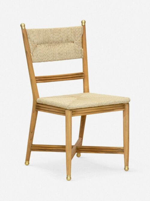 Morris & Co. Kelmscott Rush Indoor / Outdoor Dining Chair, Natural