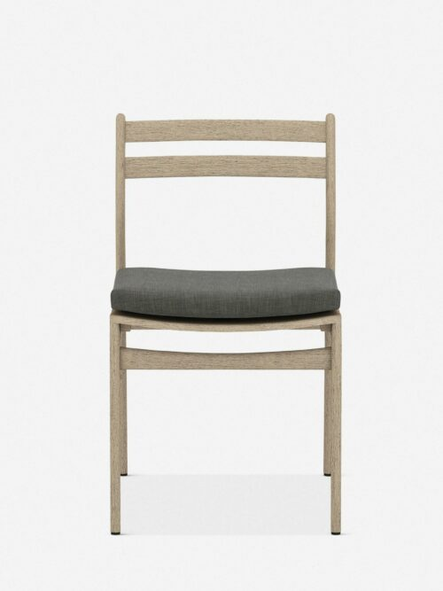 Oleena Outdoor Dining Chair, Washed Brown/Charcoal