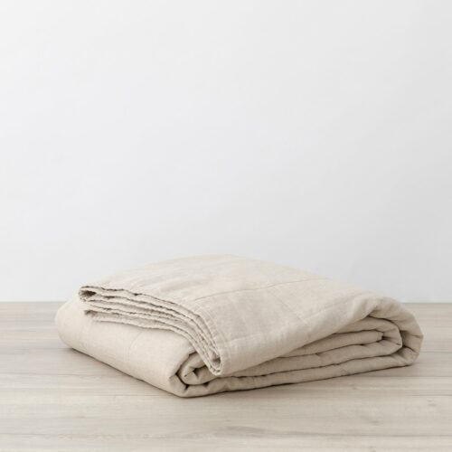 Quilted Bedcover - Natural
