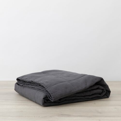 Quilted Bedcover - Slate