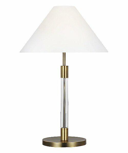 Robert Table Lamp by Lauren Ralph Lauren - Color: White - Finish: Brass - (LT1041TWB1)