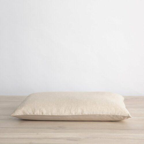 Silk Linen Flip Pillowcase - Natural