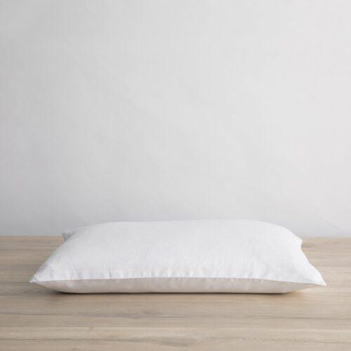 Silk Linen Flip Pillowcase - White